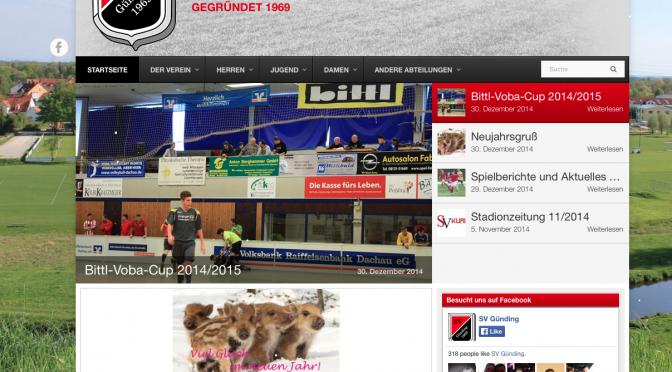 SV Günding Homepage geht online